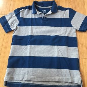Boys Gap blue and gray striped polo, size 8